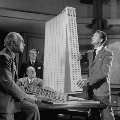 """Scene from the Movie """"The Fountainhead"""""""