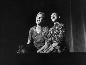 """Scenes from """"Peter Pan"""" Starring Mary Martin and Heller Halliday, Televised after Broadway Run by Allan Grant"""