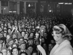 """Singer Rosemary Clooney at the Premiere of Her Movie """"Stars are Singing"""" by Allan Grant"""