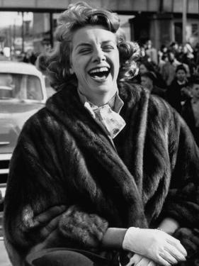 Singer Rosemary Clooney Laughing by Allan Grant