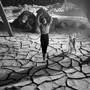 Unidentified Actor on Set of Film 'Destination Moon', 1950 by Allan Grant