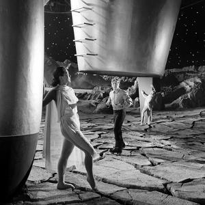 Unidentified Dancers on Set of Film 'Destination Moon', 1950 by Allan Grant