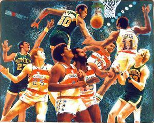 NBA (Sonics) by Allan Mardon