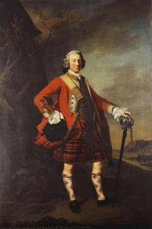 Portrait of John Campbell, 4th Earl of Loudon (1705-1782), Full-Length, in the Uniform of His…