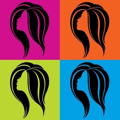 Girl's Profile in Pop-Art Style by Allaya