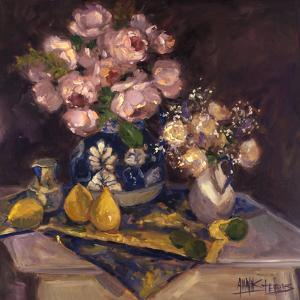 Pink Roses and Pears by Allayn Stevens