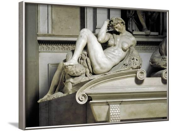 Allegory of the Night, by Michelangelo--Framed Photographic Print