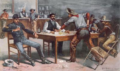 Argument over Cards in a Western Saloon, 1895