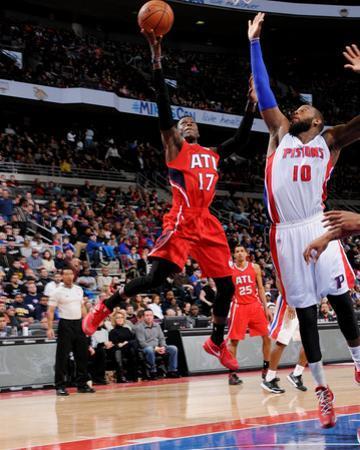 Atlanta Hawks v Detroit Pistons by Allen Einstein