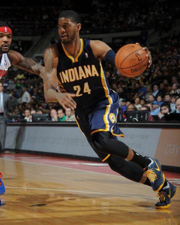 Mar 15, 2014, Indiana Pacers vs Detroit Pistons - Paul George by Allen Einstein