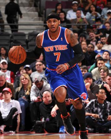 Mar 3, 2014, New York Knicks vs Detroit Pistons - Carmelo Anthony by Allen Einstein