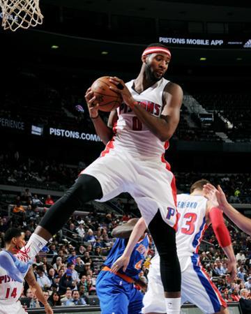 New York Knicks v Detroit Pistons by Allen Einstein