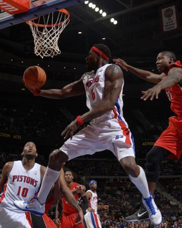 Toronto Raptors v Detroit Pistons: Ben Wallace and Ed Davis by Allen Einstein
