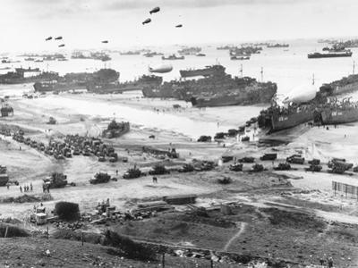 Allied Forces at a Beach in Normandy