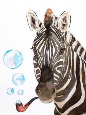 Bubble Pipe Zebra by Allison Gray