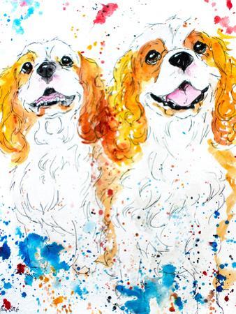 Cavalier Spaniels by Allison Gray
