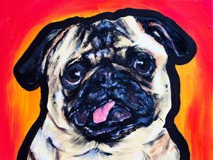 Goofy Pug by Allison Gray