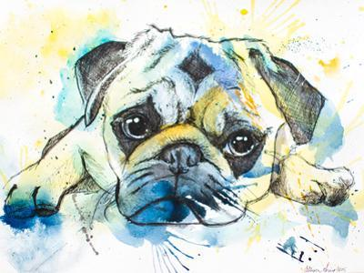 Pug by Allison Gray