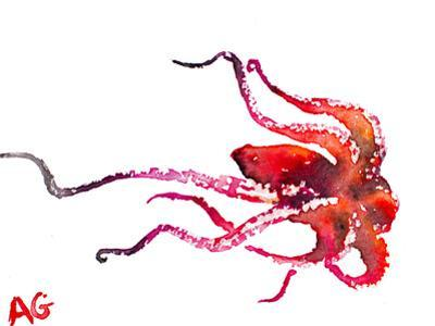 Red Octopus by Allison Gray