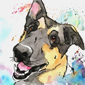 Sweet German Shepherd by Allison Gray