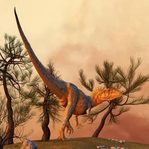 Allosaurus, a Large Theropod Dinosaur from the Late Jurassic Period