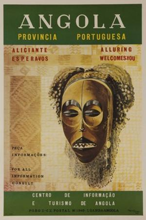 Alluring Angola Welcomes You, Travel Poster Mask