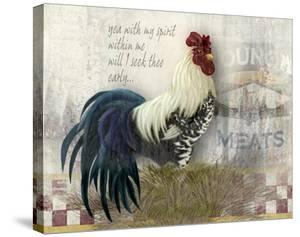 Checkerboard Rooster by Alma Lee