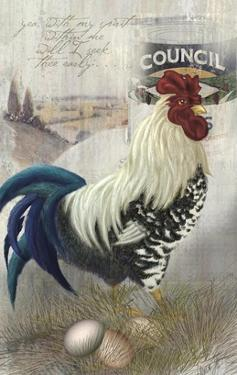 Checkered Past Rooster by Alma Lee