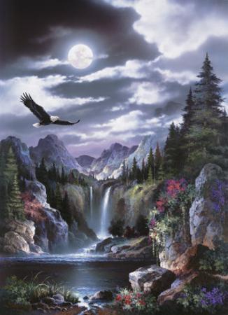 Moonlit Eagle by Alma Lee