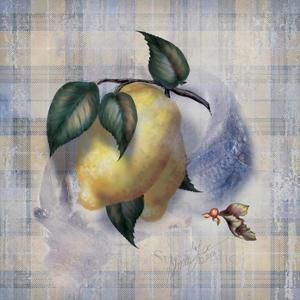 Tartan Fruit, Lemon by Alma Lee