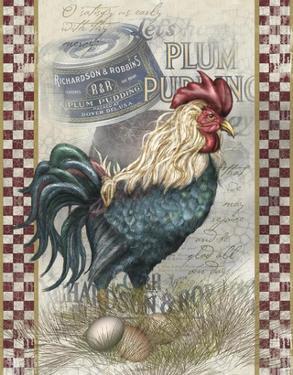 True Blue Rooster by Alma Lee