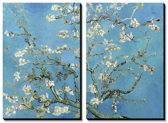 Almond Branches in Bloom, San Remy, c.1890-Vincent van Gogh-Stretched Canvas