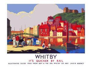 Whitby: Its Quicker by Rail by Alo (Charles-Jean Hallo)