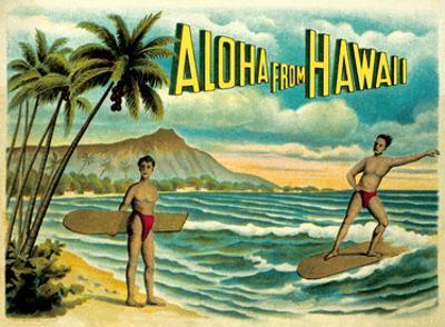 Aloha from Hawaii - Famous Surf Riders - Island Curio Co., Honolulu