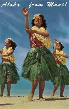 Aloha from Maui, Hula Girls on Beach