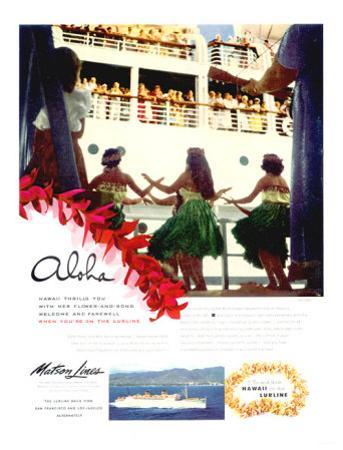 Aloha, Matson Lurline