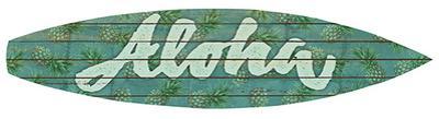 Aloha Surfboard Plaque