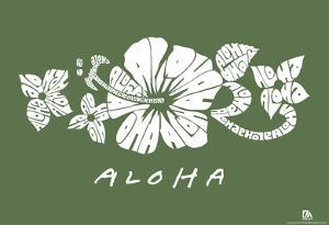 Aloha Text Poster