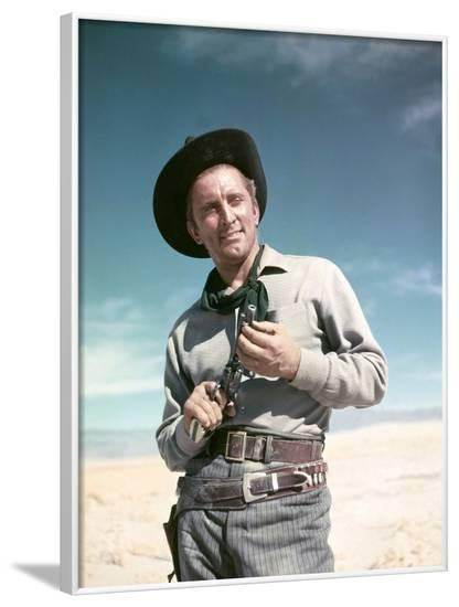ALONG THE GREAT DIVIDE, 195I directed by RAOUL WALSH with Kirk Douglas (photo)--Framed Photo
