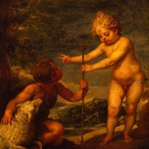 Christ and John the Baptist as Children, Ca 1665 by Alonso Cano