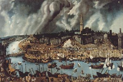 The Port of Seville, c.1590 by Alonso Sanchez Coello