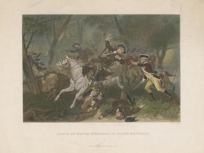 Death of Major Ferguson at King's Mountain, 1863
