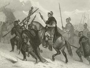 Hannibal and His Army Crossing the Alps, 218 BC by Alonzo Chappel