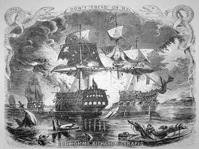 John Paul Jones, Commanding the Bonhomme Richard, Defeats Hms Serapis on 23rd September 1779