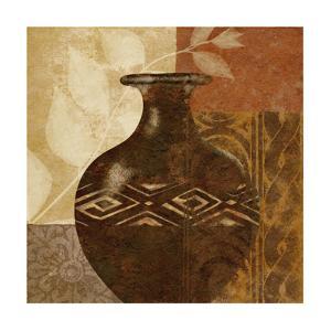 Ethnic Vase III by Alonzo Saunders