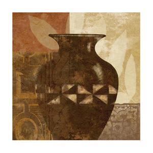 Ethnic Vase IV by Alonzo Saunders