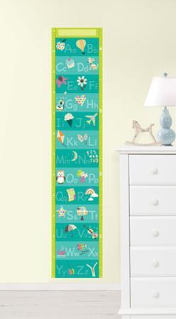 Alphabet Growth Chart Wall Decal Sticker