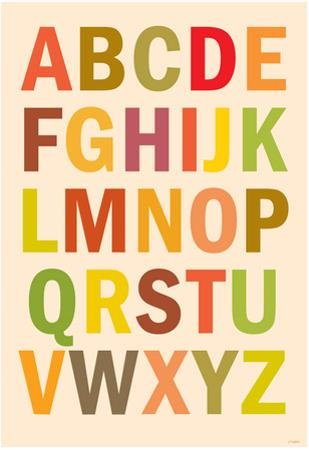 Alphabet (List) Art Poster Print