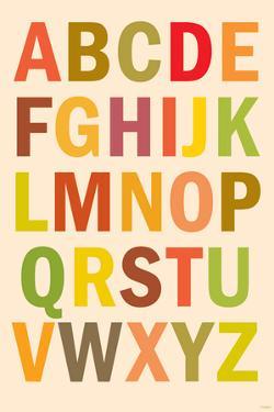 Alphabet (List) Plastic Sign