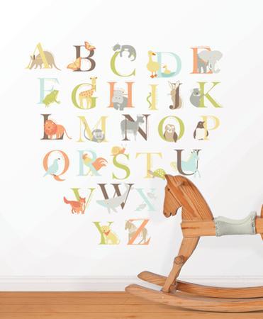 Alphabet Zoo Decal Kit